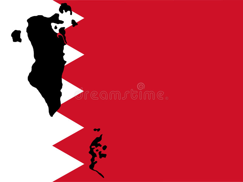Kaart van Bahrein vector illustratie