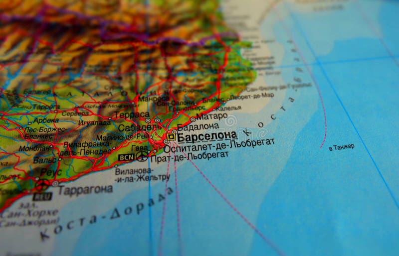 Kaart van Barcelona stock foto