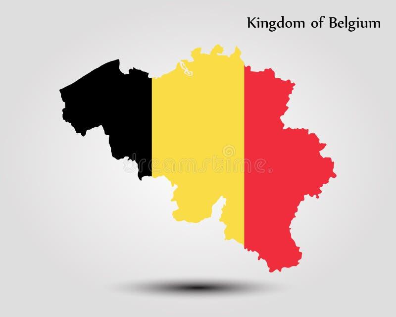 Kaart van België stock illustratie