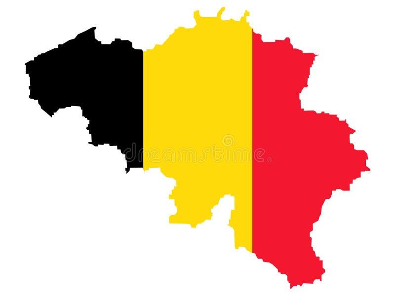 Kaart van België royalty-vrije illustratie