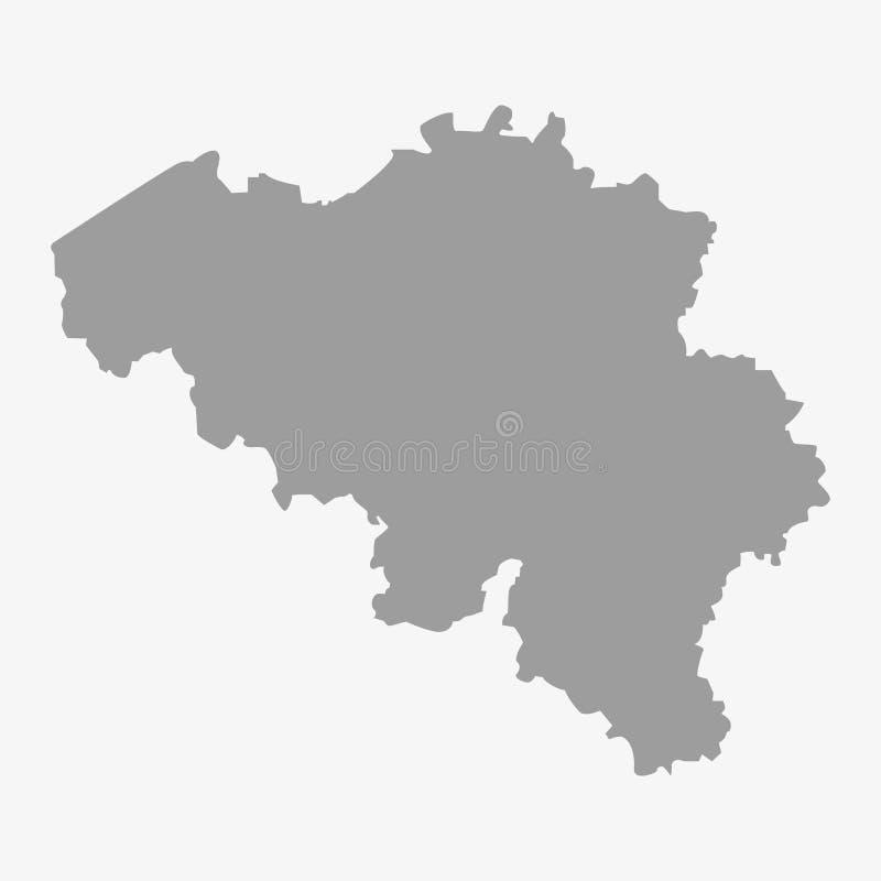 Kaart van België in grijs op een witte achtergrond vector illustratie