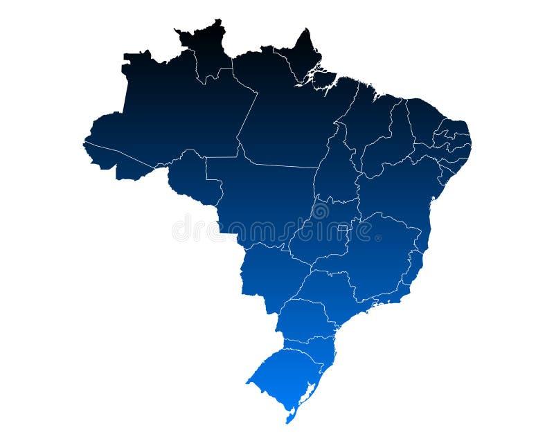 Kaart van Brazilië royalty-vrije illustratie