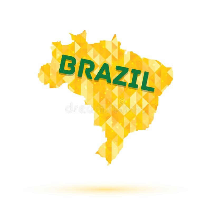 Kaart van Brazilië stock illustratie