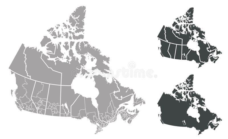 Kaart van Canada vector illustratie