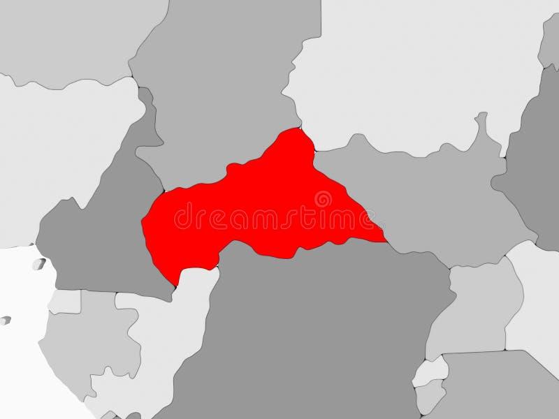 Kaart van Centraal-Afrika vector illustratie