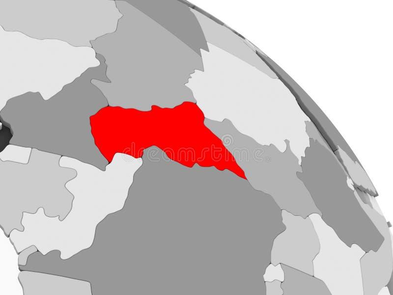Kaart van Centraal-Afrika stock illustratie