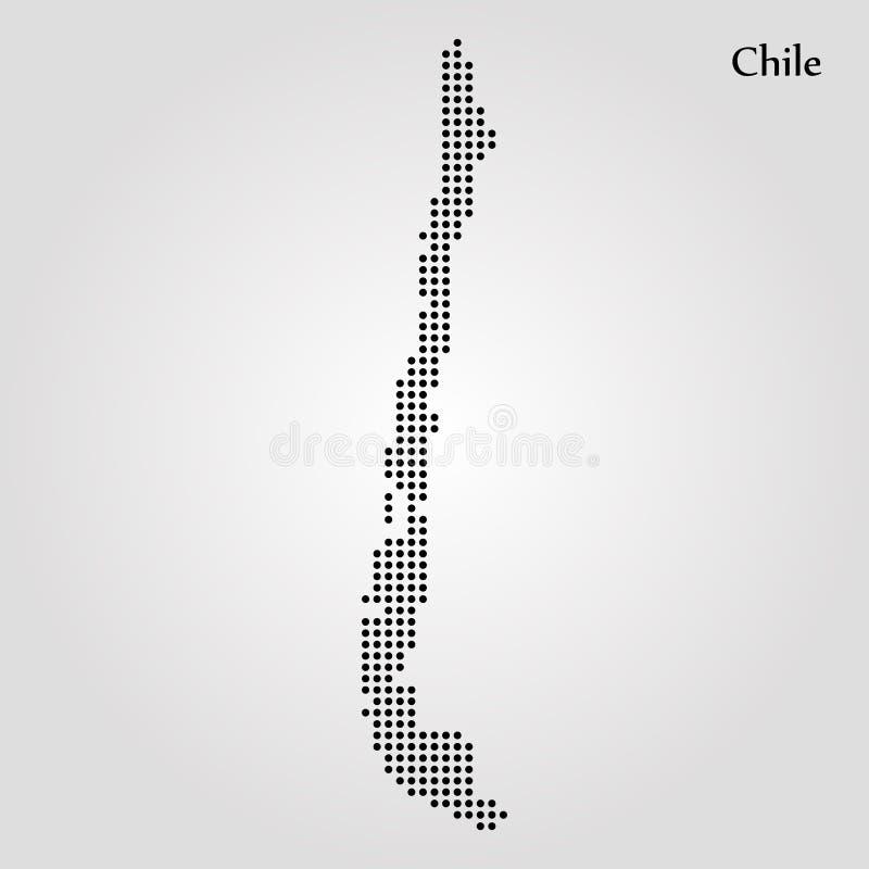 Kaart van Chili Vector illustratie De kaart van de wereld stock illustratie