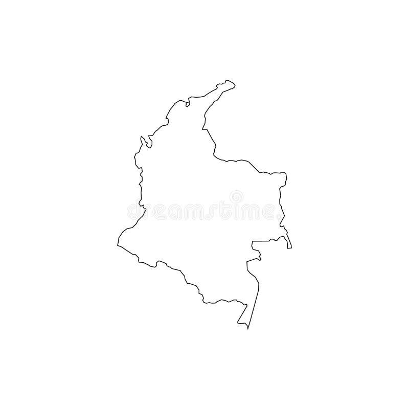 Kaart van Colombia vector illustratie
