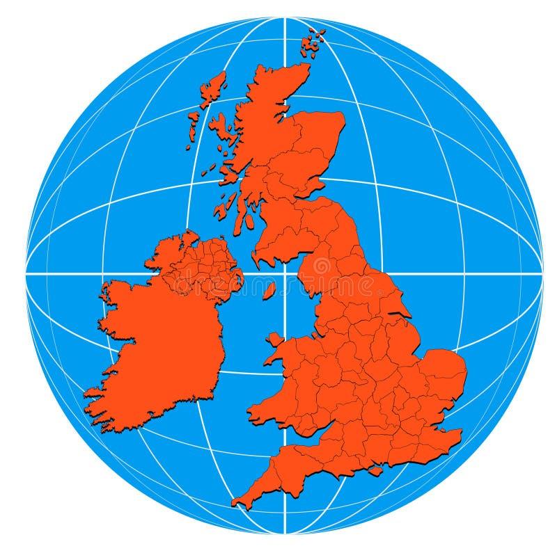 Kaart van de Britse Eilanden
