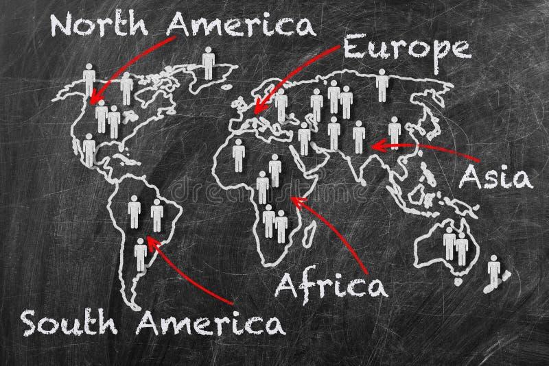 Kaart van de continenten royalty-vrije stock afbeelding