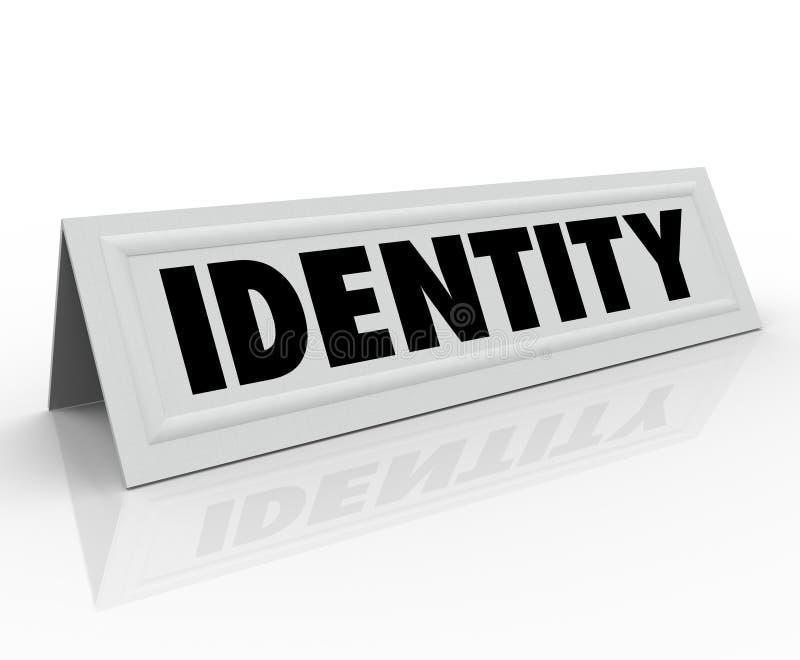 Kaart van de de Naamtent van het identiteits de Persoonlijke Karakter Distinctieve vector illustratie