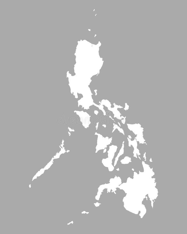 Kaart van de Filippijnen stock illustratie