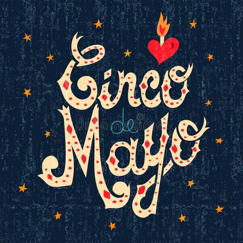 Download Kaart Van De Het Tekengroet Van De Cincode Mayo De Mexicaanse Tekst Vector Illustratie - Illustratie bestaande uit festival, feestelijk: 114225942