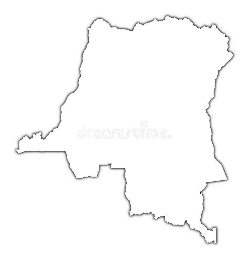 Kaart van de Kongo, DEM. Rep. royalty-vrije illustratie