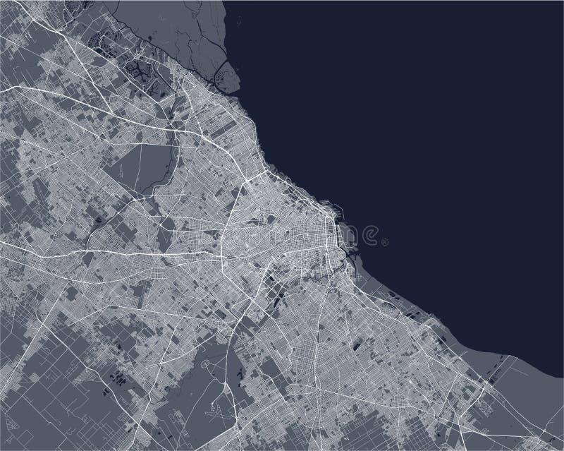 Kaart van de stad van Buenos aires, Argentinië royalty-vrije illustratie
