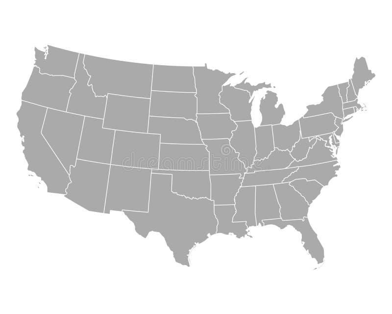 Kaart van de V royalty-vrije illustratie