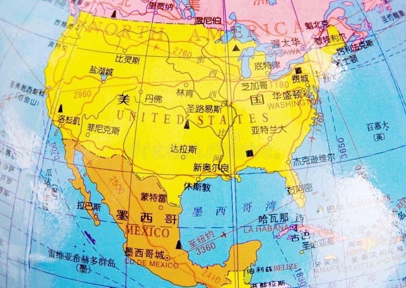 Kaart van de V.S. en Mexicaan stock afbeelding