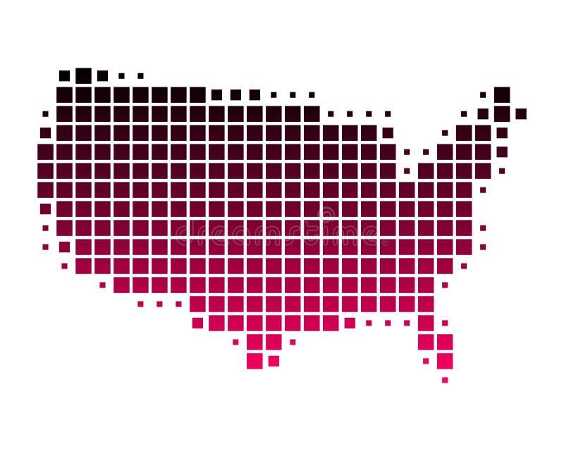 Kaart van de Verenigde Staten van Amerika royalty-vrije illustratie