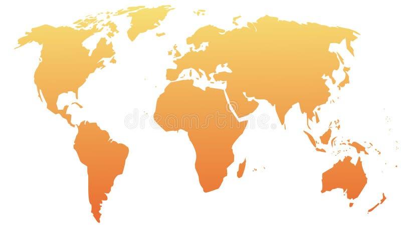 Kaart van de wereld royalty-vrije illustratie