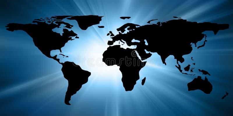 Kaart van de wereld stock illustratie