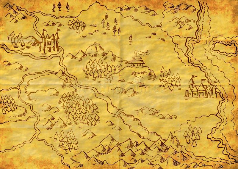 Kaart van de Wereld grunge vector illustratie