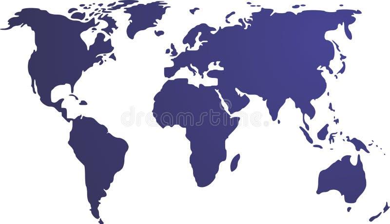 Kaart van de wereldillustratie stock illustratie