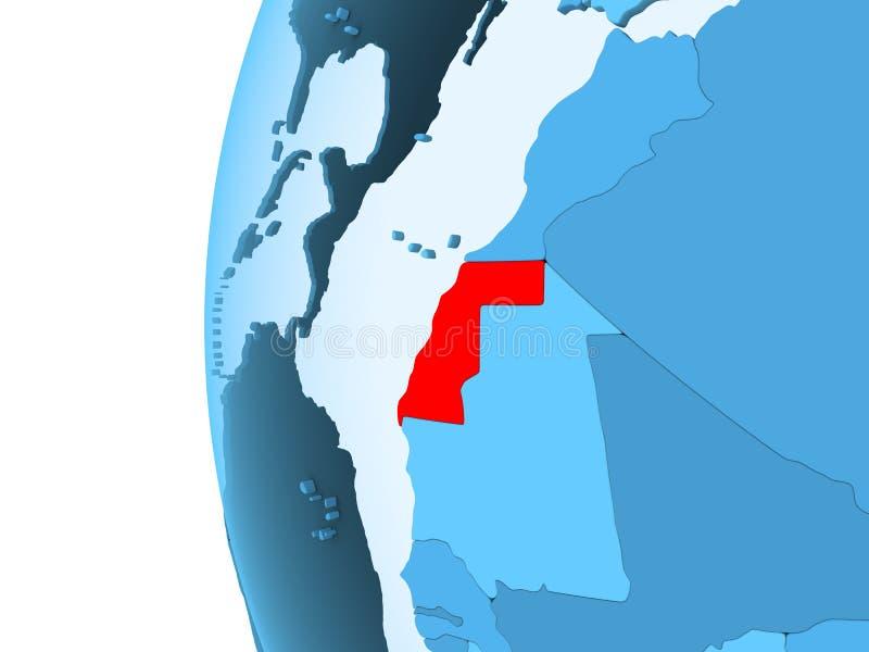 Kaart van de westelijke Sahara vector illustratie