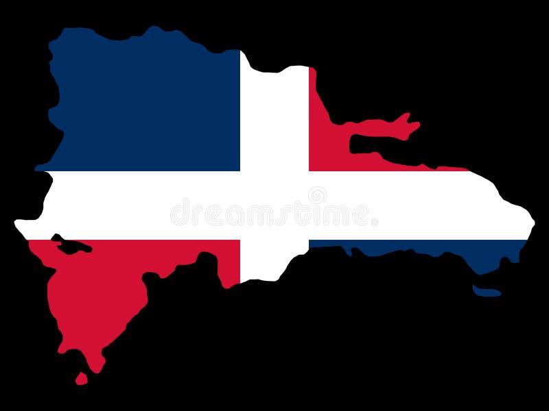 Kaart van Dominicaanse republiek royalty-vrije illustratie