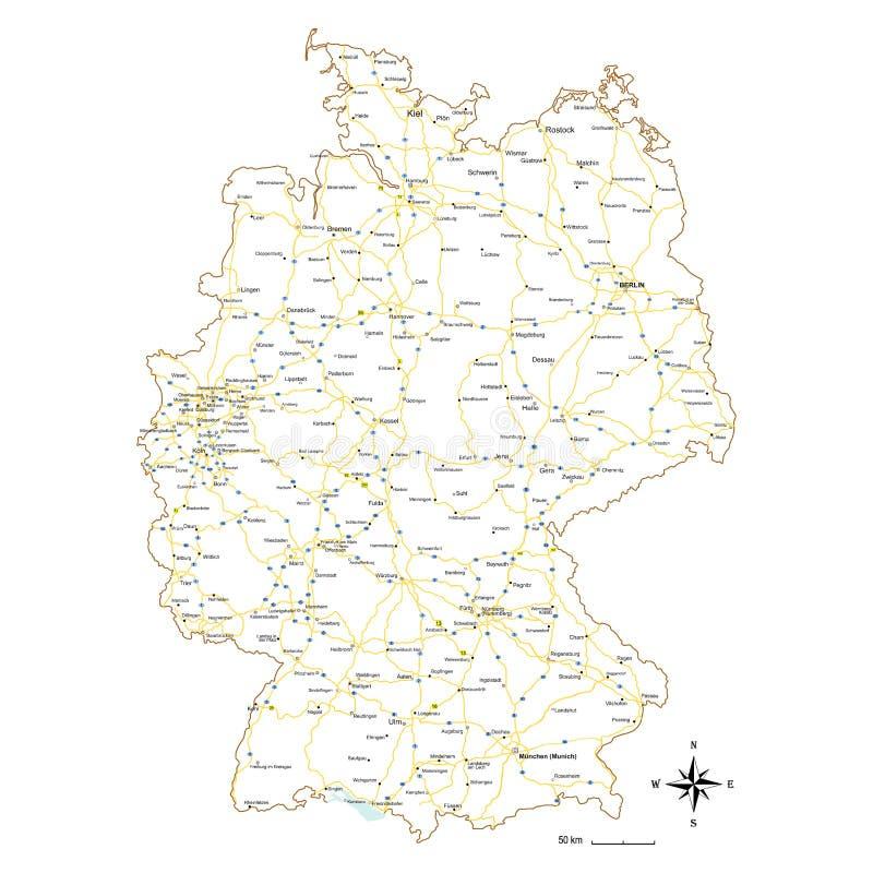 Kaart van Duitsland royalty-vrije illustratie