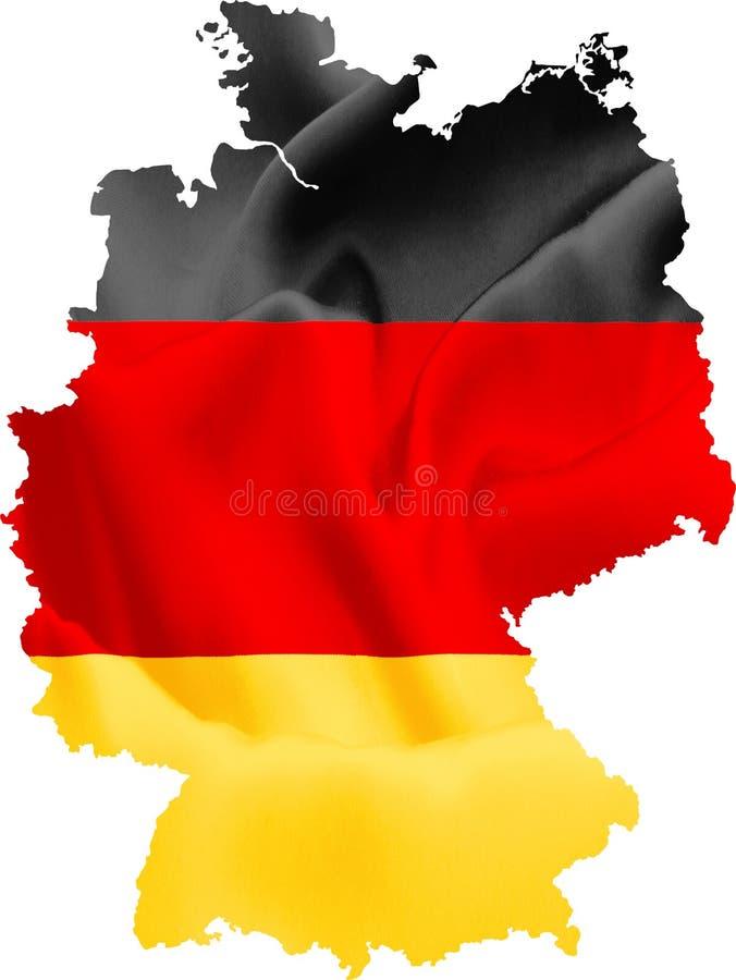 Kaart van Duitsland met vlag royalty-vrije illustratie