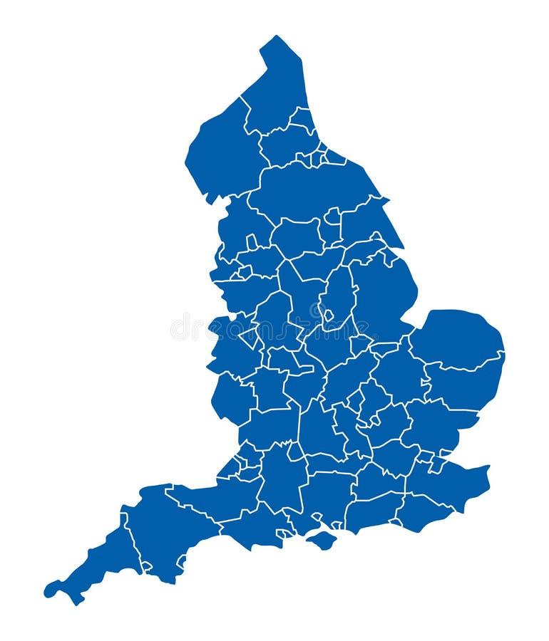 Kaart van Engeland stock illustratie