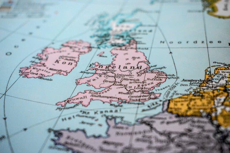 Kaart van Engeland royalty-vrije stock foto
