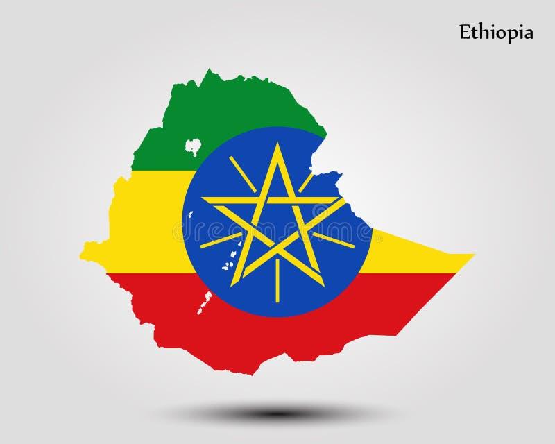 Kaart van Ethiopië royalty-vrije illustratie
