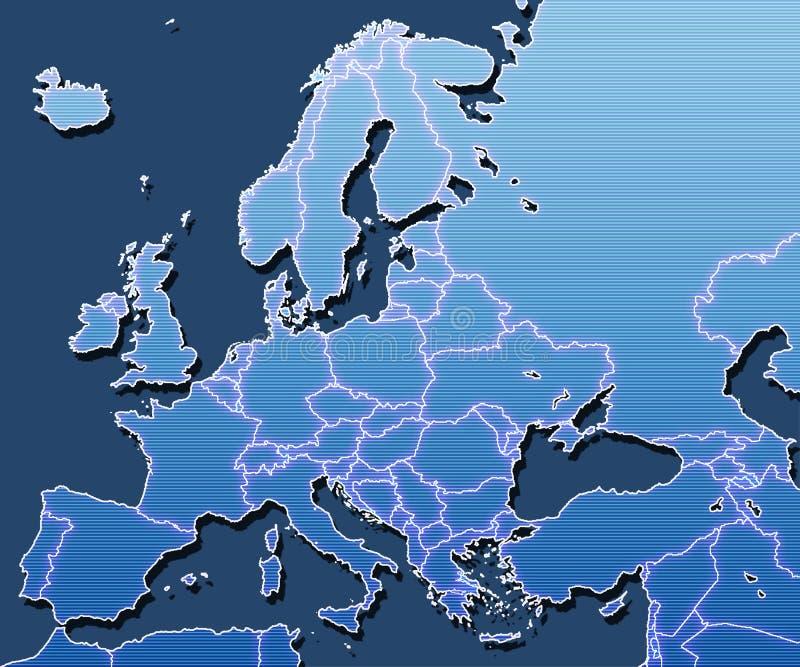 Kaart van Europa vector illustratie