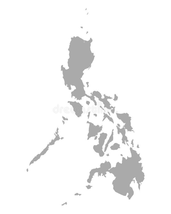 Kaart van Filippijnen royalty-vrije illustratie
