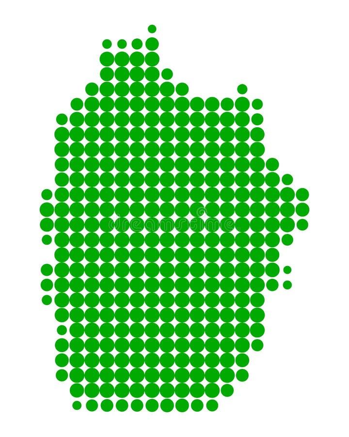 Kaart van Flores stock illustratie