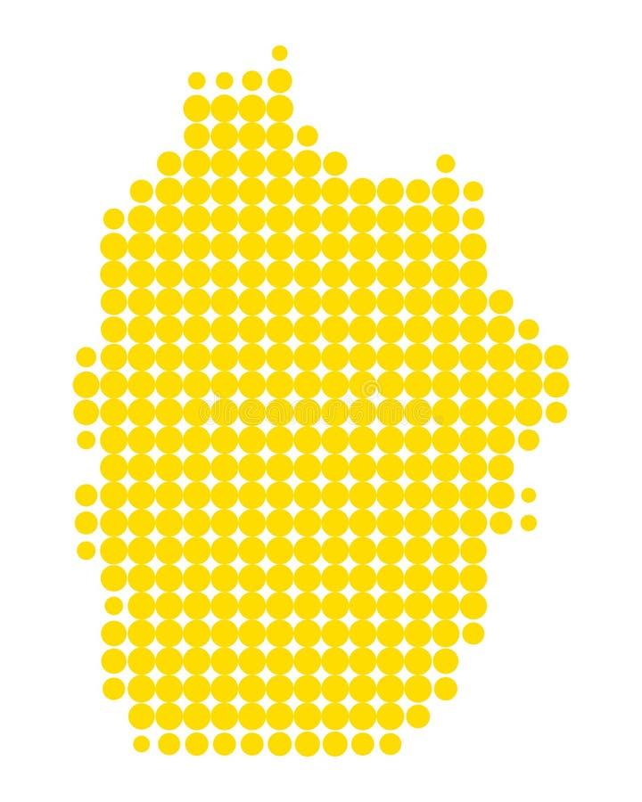 Kaart van Flores royalty-vrije illustratie