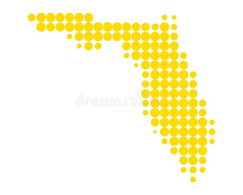 Kaart van Florida royalty-vrije illustratie