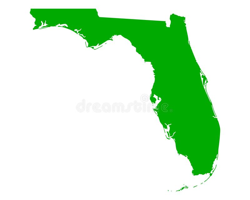 Kaart van Florida stock illustratie