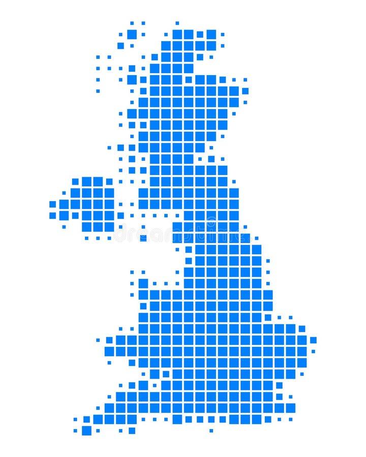 Kaart van Groot-Brittannië royalty-vrije illustratie