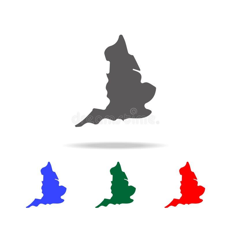 kaart van het pictogram van Engeland Elementen van de multi gekleurde pictogrammen van het Verenigd Koninkrijk Grafisch het ontwe royalty-vrije illustratie