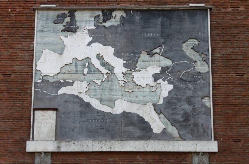 Kaart van het roman imperium stock foto's