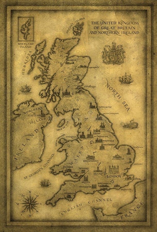Kaart van het UK vector illustratie