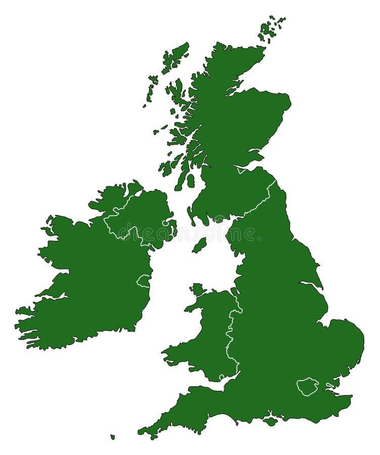 Kaart van het Verenigd Koninkrijk