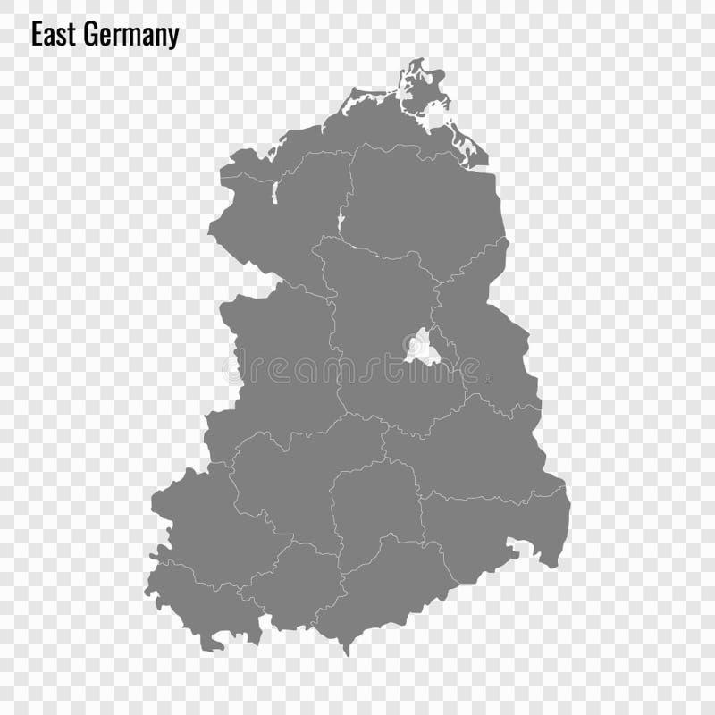 Kaart van hoge kwaliteit voor Oost-Duitsland stock fotografie