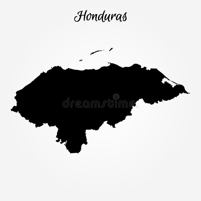 Kaart van Honduras royalty-vrije illustratie