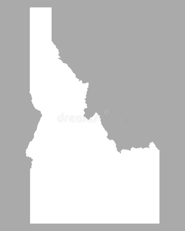 Kaart van Idaho stock illustratie