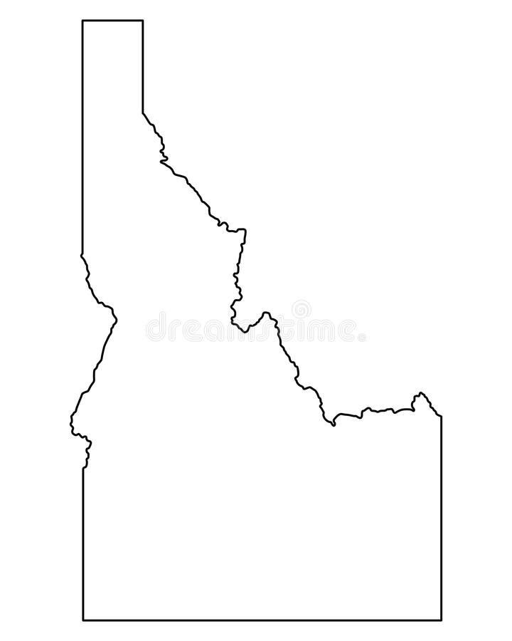 Kaart van Idaho royalty-vrije illustratie