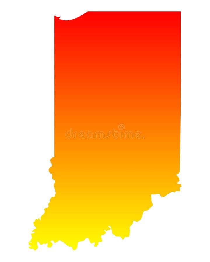 Kaart van Indiana stock illustratie