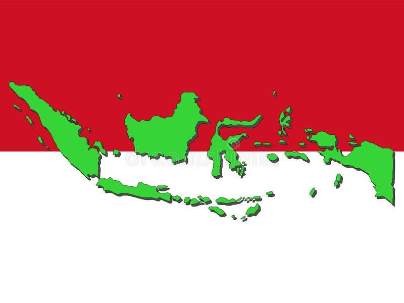 Kaart van Indonesië vector illustratie